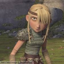 Astrid is tough and kick-ass, but is also a bit girly. She is likable as well.
