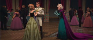 So Anna goes to Hans, and they end up spending the entire evening together, in and out of the castle, and they start to bond This leads to the song Love is an Open Door, and it dsounds a bit too poppy for me. I know what they are trying to do with this song, and it does it well. I notice that Hans lets Anna do most of the talking. When she asks Elsa for her blessing, in which she refuses, since she cannot marry a man she just met. I like that the movie added this in, but it is very rubbed in. I don't understand why you would be asking your sibling who is 3 years older than you for a blessing and permission, even if the parents are deceased.